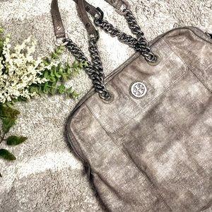 Tory Burch Gray Large Tote Bag